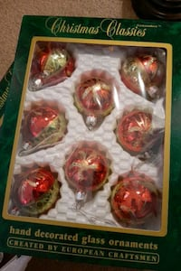 Hand decorated glass ornaments