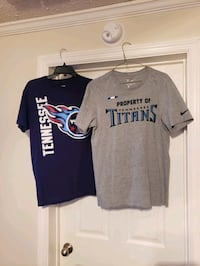 mens med NFL Titan shirts . good condition