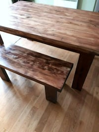 rectangular brown wooden coffee table Châteauguay, J6J 2C7