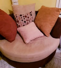 brown and white fabric sofa chair Woodbridge, 22192