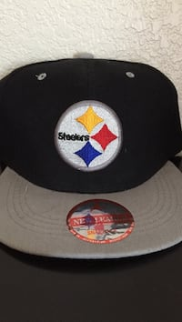 Black and gray pittsburgh steelers flat brim cap Las Cruces, 88001