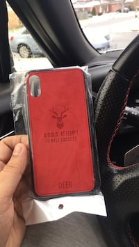 Red deer leather smartphone case for iPhone X  Niagara Falls, L2G