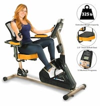Exerpeutic Recumbent Exercise Bike with Bluetooth Richmond Hill, L4C 5N7