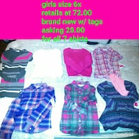 Girls assorted clothes