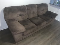 Brown suede couch, $150 or best offer Charlotte, 28216