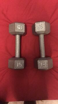15 lbs stainless steel dumbbells  Vaughan, L6A 3B7