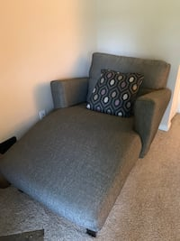 Grey chase sofa or reading lounge chair with pillow!