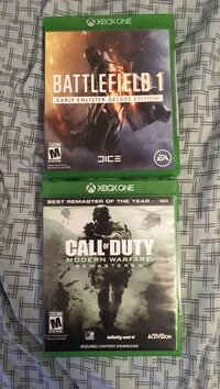 Xbox One Games (Call of duty/Battlefield 1) Highland Lakes, 07422