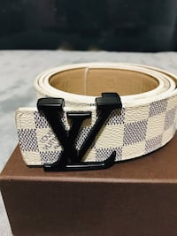 Beautiful Louis Vuitton leather belt with black buckle  Edmonton
