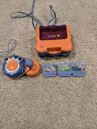 Vsmile children's toy game system with 3 games