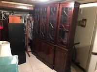 Antique/Vintage China Cabinet/Hutch 2 Pieces. Beautifully made! Can detach for ease of movement. Yonkers, 10701