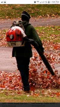 Leaf blowing and gutter cleaning