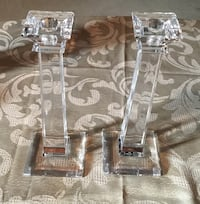 MIKASA CRYSTAL CANDLE HOLDER PAIR Brampton, L6V 3C5