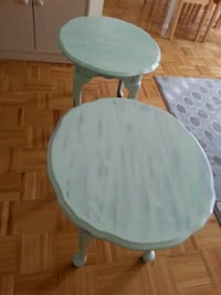 Two identical wood side tables Toronto, M2R 1Z1