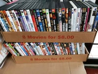 DVDs movie 8 for $8 action comedy romance & more