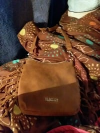 brown and black leather hobo bag Griffin, 30223