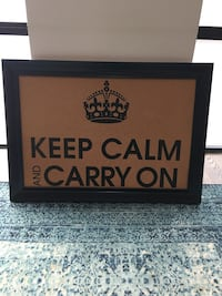 """Keep Calm and Carry On cork board picture, perfect for a home office! (34"""" x 29"""") Toronto"""
