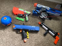 Blue and green nerf guns Orlando, 32804