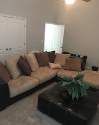 Chocolate sectional WITH leather ottoman Greenbelt, 20770