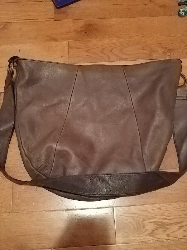 df5513bbe900 Used Large Brown Leather hobo bag for sale in Kingston - letgo