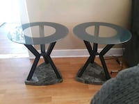 Side glass tables with lamps  Santa Ana, 92707