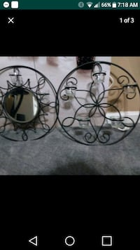 Wall decor e with candle holders Charlotte, 28262