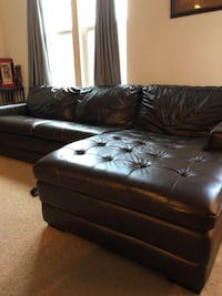 Pure Leather sectional in excellent condition bought for $2000 Elkridge, 21075