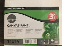 Canvas Panel for painting. Three pack.  New In package   Toronto, M5K 2R2