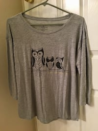 3 owls logo gray long sleeve shirt Huntington Beach, 92648