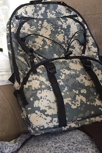 Camouflage backpack never used
