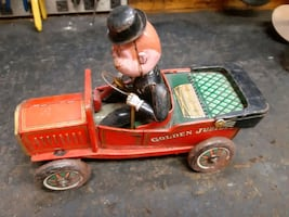 Vintage steel car toy