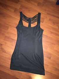 Black body hugging strappy dress size S. condition 9/10