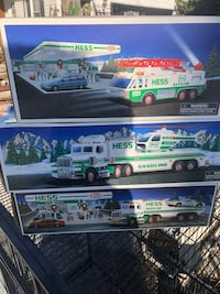 three white and green Hess truck toy boxes Taneytown, 21787