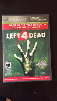 Left 4 Dead Xbox 360 game case Guelph, N1G 2Y7