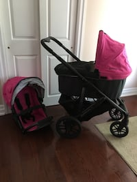 2013 Uppababy vista dark pink stroller pristine condition