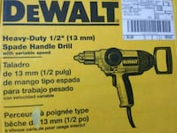DeWalt Spade Handle drill box Takoma Park, 20912
