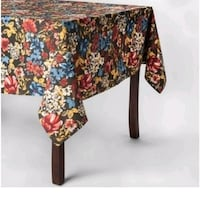 Multicolored floral tablecloth from target Virginia Beach