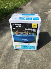 Summer Waves 10ft Quick Set Pool Brand New Intex Easy