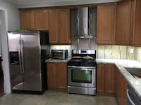 Full kitchen cabinets with Granite counter tops and hood all in excellent condition. If interested please call Issac @( [PHONE NUMBER HIDDEN] .
