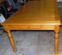 Extremely sturdy real wood table, with storage drawers on both sides.  Price is negotiable  Jacksonville, 32218