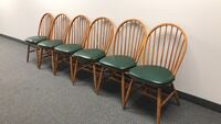 6 wood chairs with padded seats Methuen, 01844