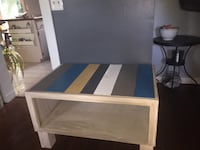 Bench with pallet top 36Lx24Wx21H, great storage.