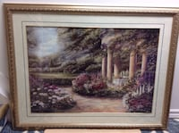 Big framed painting with very elegant view ,in grate conditions width:110 cm. length: 88 cm Hamilton, L8W