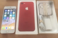iPhone 7 red 128gb olåst Botkyrka, 147 91