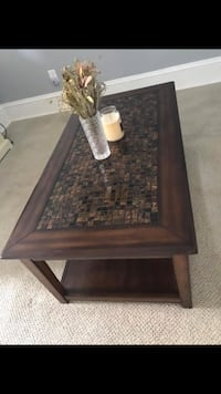 Rectangular brown wooden framed coffee table West Chester, 19382