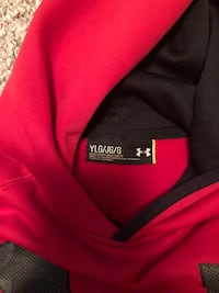 red and blue Under Armour pullover hoodies 504 mi
