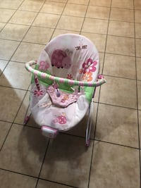 baby's white and pink floral swing chair Oakdale, 95361