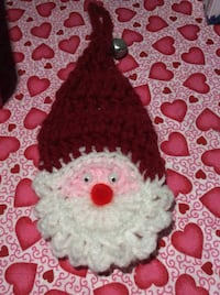 Hand-made crocheted Christmas ornament decoration Santa clause with jingle bell (for Christmas tree, doorknob,etc, Kingston, K7P 0K6