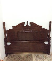 Solid Mahogany Wood Full/Double Bed (headboard and footboard)
