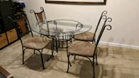 "5 piece dinette with a 48"" glass top"
